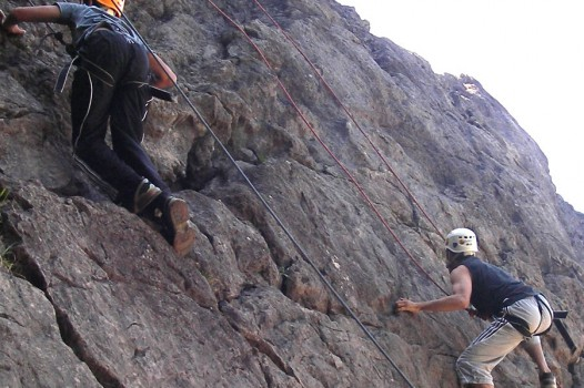 Rock Climbing with Adventures Wales