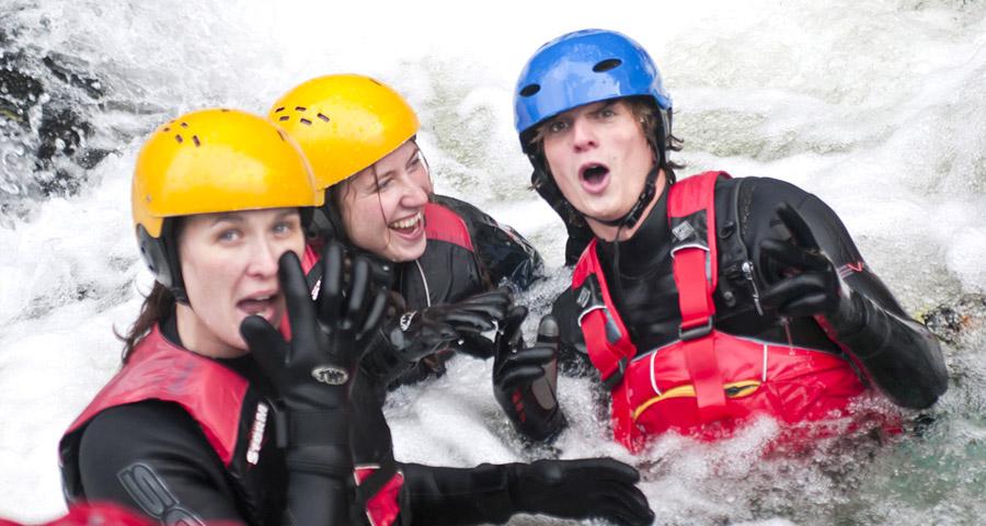 Coasteering Team Building Activities with Adventures Wales