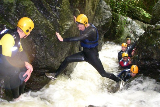 Gorge Walking with Adventures Wales