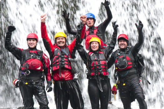Canyoning with Adventures Wales