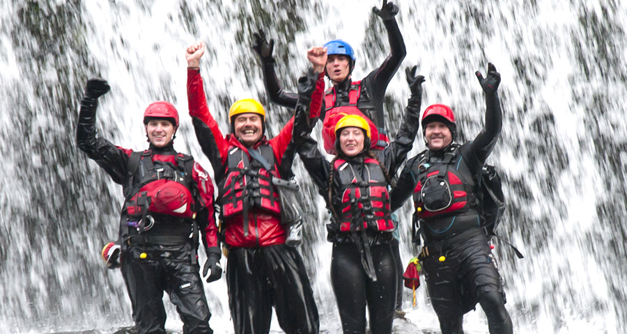 Gorge Walking School activity days with Adventures Wales