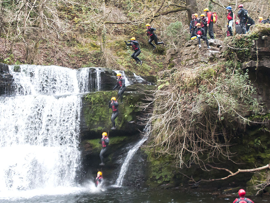 Gorge Walking jump