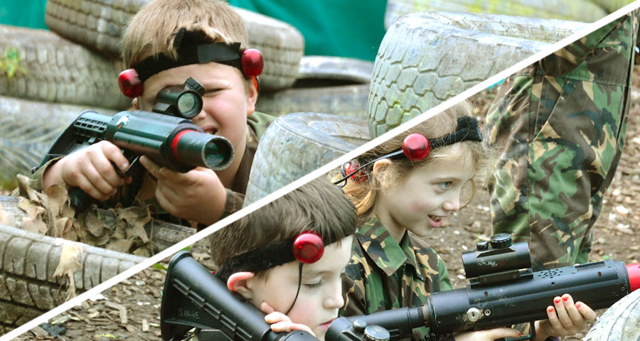 Laser Tag Children's Parties with Adventures Wales
