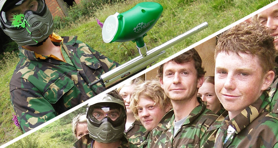 Paint-balling Children's Parties with Adventures Wales
