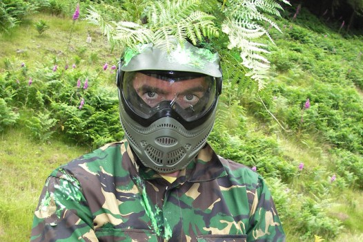 Paint-balling with Adventures Wales