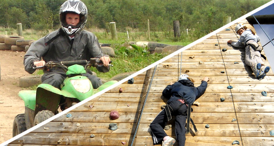 Quad Biking and Climbing School activity days with Adventures Wales