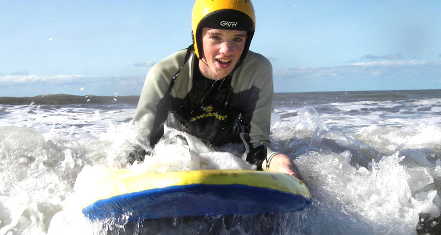 School Surfing Lessons with Adventures Wales