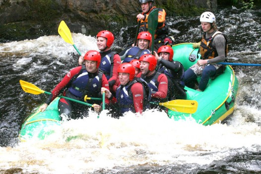 White Water Rafting with Adventures Wales
