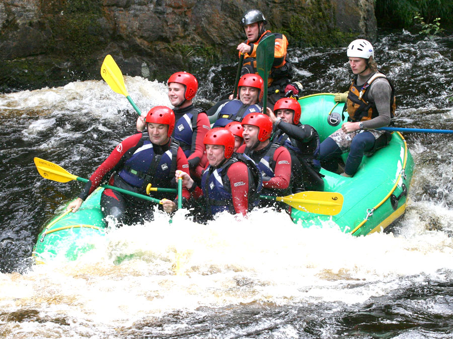white water rafting near Cardiff with Adventures Wales