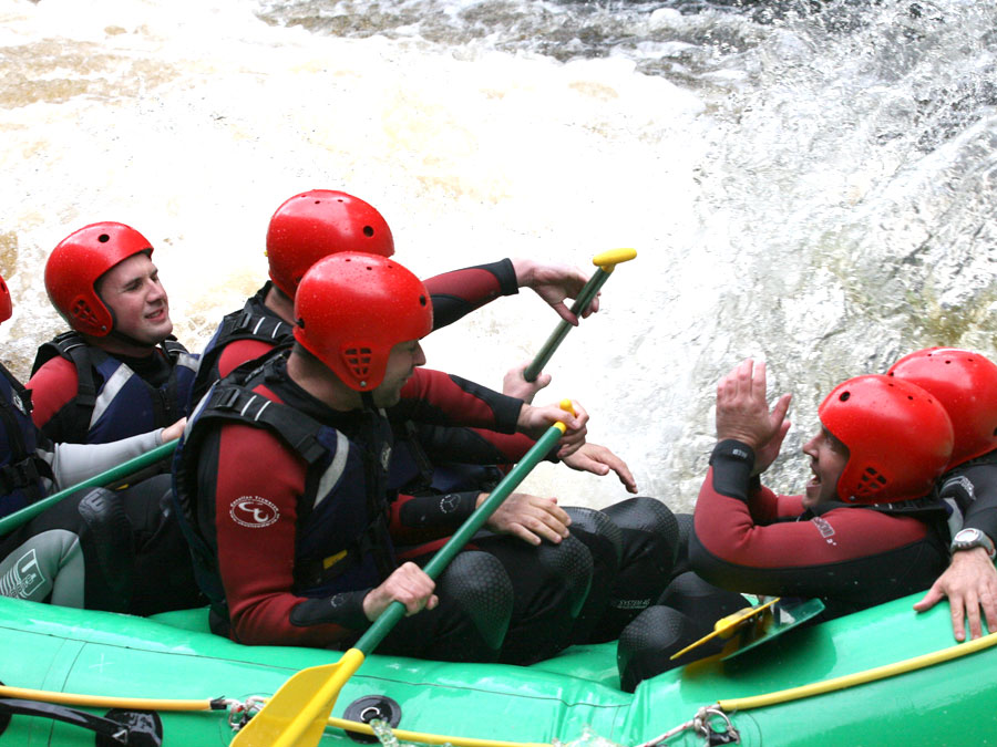 White Water Rafting on a Cardiff Stag Weekend