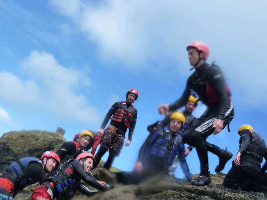 Coasteering at St Davids, Pembrokeshire with Adventures Wales