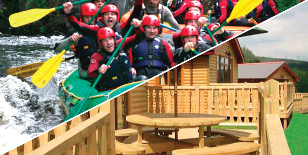 Log Cabins Stag Weekends with Adventures Wales Activity Centre