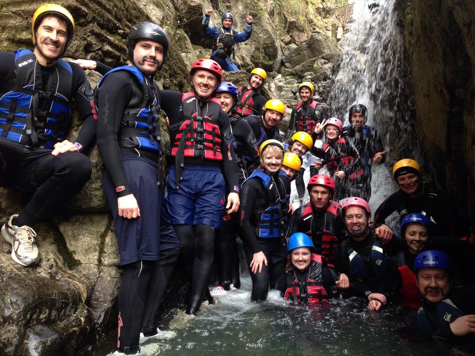 Gorge Walking on a Cardiff Stag Weekend