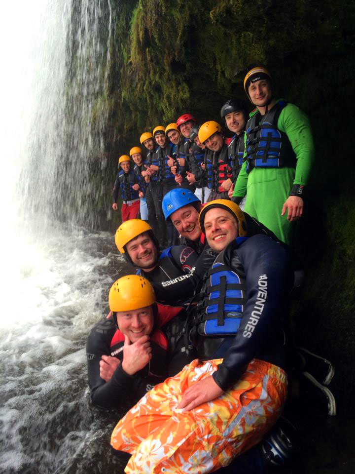 Stag weekend Gorge Walking with Adventures Wales