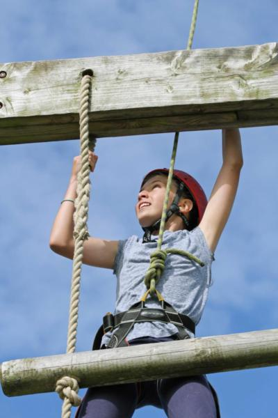 Child Trying High Ropes