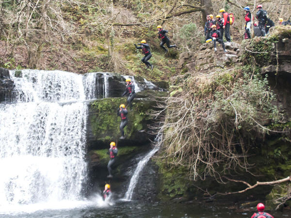 Gorge Walking School Trips Near Cardiff