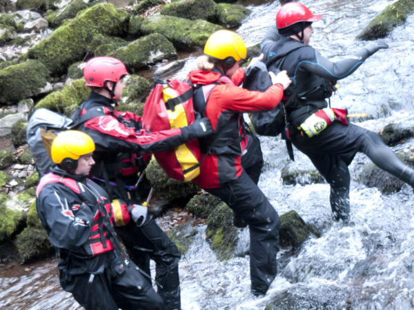 Group Gorge Scrambling with Adventures Wales