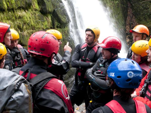 Group Gorge Scrambling in Wales
