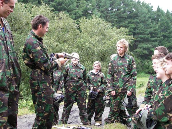 Paintballing and Climbing School Adventure Days Near Cardiff