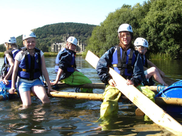 Raft Building and Kayaking Near Swansea