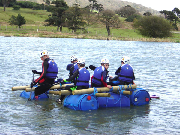 Raft Building and Kayaking School Trips