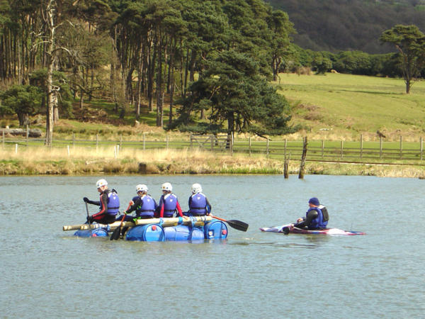 Raft Building Team Building Activities with Adventures Wales