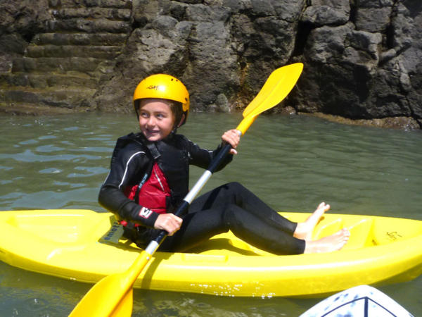 Child Surf Kayaking Wales