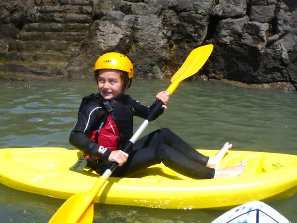 Child Surf Kayaking Wales