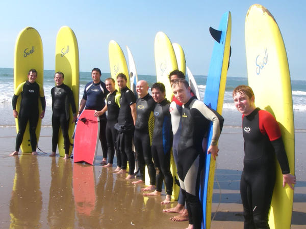 Surfing and Kayaking Team Building Days Near Cardiff